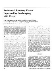 Residential Property Values Improved by Landscaping with Trees