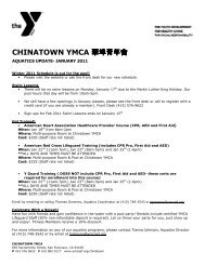 CHINATOWN YMCA 華埠青年會 - YMCA of San Francisco