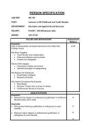 Person Specification (60.6 KB) - Eteach