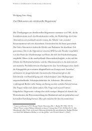 Zur Diskussion um strukturelle Hegemonie - Wolfgang Fritz Haug