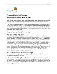 Charitable Lead Trusts - Planned Giving Websites