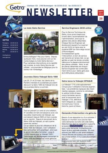 Getra Newsletter 28 - van aerden group