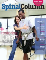 restoring - Shepherd Center's Spinal Column Magazine