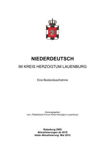 Plattdeutsch-Best.-Aufnahme 2012-3 - Zentrum für Niederdeutsch in ...