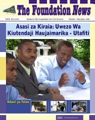 Foundation Newsletter KISWA.indd - The Foundation for Civil Society