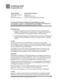 Tjänsteutlåtande Till Fastighetsnämnden 2013-01-14 ... - Göteborg