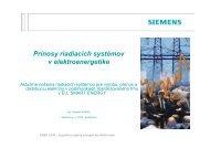 Prínosy riadiacich systémov v elektroenergetike
