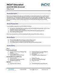 INCAT Education AutoCAD 2006 Advanced - Tata Technologies