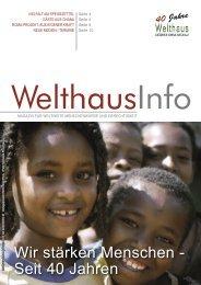 Wir stärken Menschen - Seit 40 Jahren - Welthaus Graz