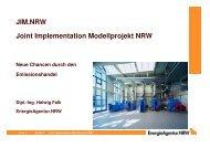 JIM.NRW Joint Implementation Modellprojekt NRW