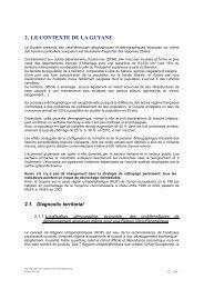 2. LE CONTEXTE DE LA GUYANE - Région Guyane