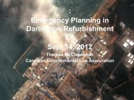 Emergency Planning - Canadian Environmental Law Association