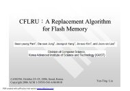CFLRU A Replacement Algorithm for Flash Memory_ppt