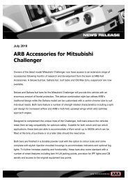 ARB Accessories for Mitsubishi Challenger