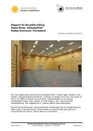 Sæbø skule, volleyballhall - Norsk musikkråd