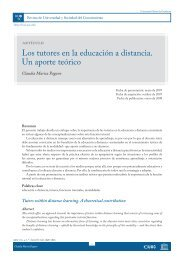 Los tutores en la educación a distancia. Un aporte teórico - RACO