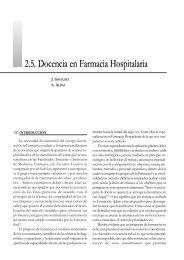 2.5. Docencia en Farmacia Hospitalaria - Sociedad Española de ...
