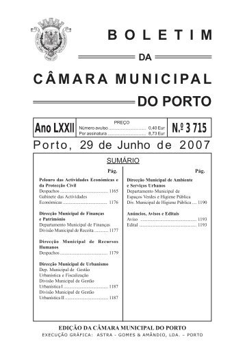 boletim 3715 - Câmara Municipal do Porto