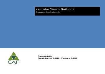Caratula estados contables - Cooperativas Agrarias Federadas