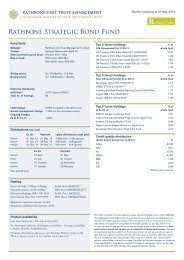 Rathbone Strategic Bond Fund - Rathbone Unit Trust Management