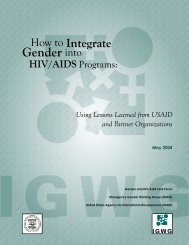 How to Integrate Gender into HIV/AIDS Programs - Population ...