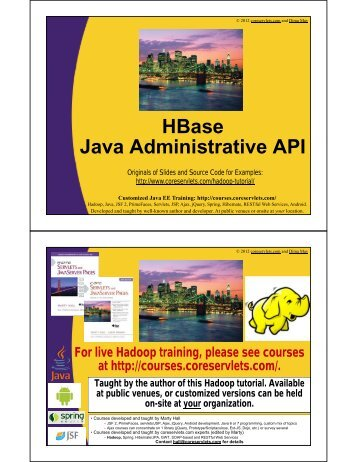 HBase Java Administrative API - Custom Training Courses ...