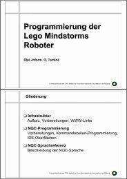 Programmierung der Lego Mindstorms Roboter