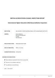 Reaccreditation Inspection - BAC