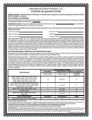 Certificat de garantie limitée - Documents Indexing