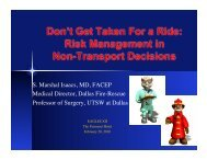 Risk Management in Non-Transport Decisions - Gathering of Eagles
