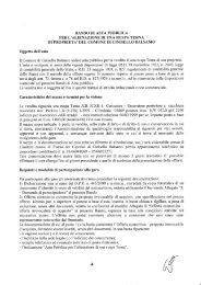 BANDO DI ASTA PUBBLICA PER L'ALIENAZIONE DI UNA RUSPA ...