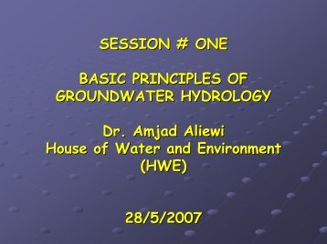 Basic principles of groundwater hydrology - Hwe.org.ps
