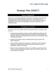 Strategic Planning Committee Outputs - University of British ...