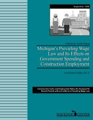 Michigan's Prevailing Wage Law and Its Effects on - Mackinac Center