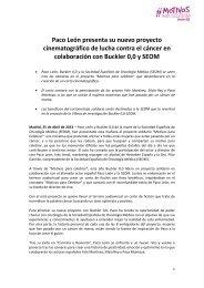 nota - Sociedad Española de Oncología Médica