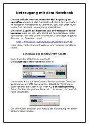 Netzzugang mit dem Notebook - WiWi
