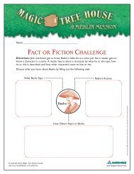 FACT OR FICTION CHALLENGE - Magic Tree House