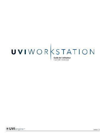 uvi workstation - Univers-sons.com