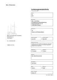 Leistungsverzeichnis - Die Vergabeplattform des Landes Berlin