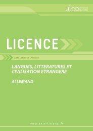 Licence Allemand - Université du Littoral Côte d'Opale
