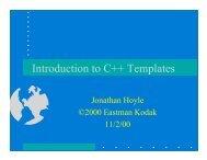 Introduction to C++ Templates - Jonhoyle.com