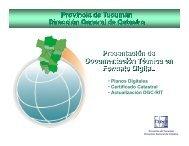 Presentación de documentación técnica en formato Digitales