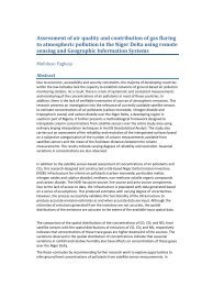Assessment of air quality and contribution of gas flaring to ...