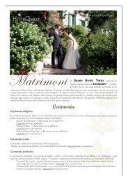 Grand Hotel Timeo - Wedding Factsheet 2012 - ita - by Orient-Express