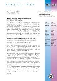 Pressemitteilung - Mit dem VRN zum Triftfest ins Leinbachtal