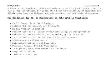 Nr. 22 vom 31.05.2010 - Rundspruch-Archiv des DARC-Distrikts Berlin