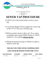 Sewer Tap form - City of Las Vegas, New
