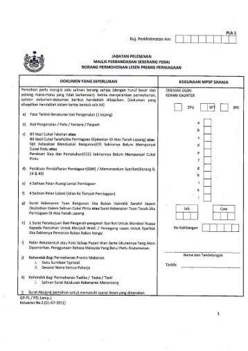 Borang Permohonan Lesen Premis Perniagaan - Majlis ...