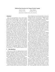 Efficient Data Structures for Tamper-Evident Logging - Usenix