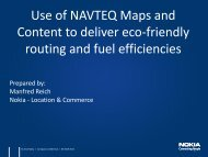 Use of NAVTEQ Maps and Content to deliver eco ... - Future Age os
